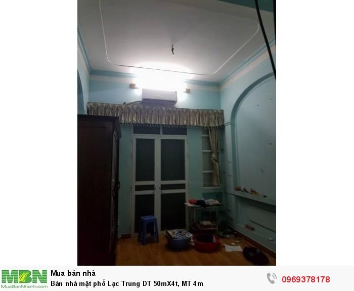 Bán nhà mặt phố Lạc Trung DT 50mX4t, MT 4m