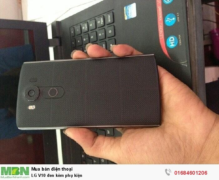 LG V10 đen kèm phụ kiện