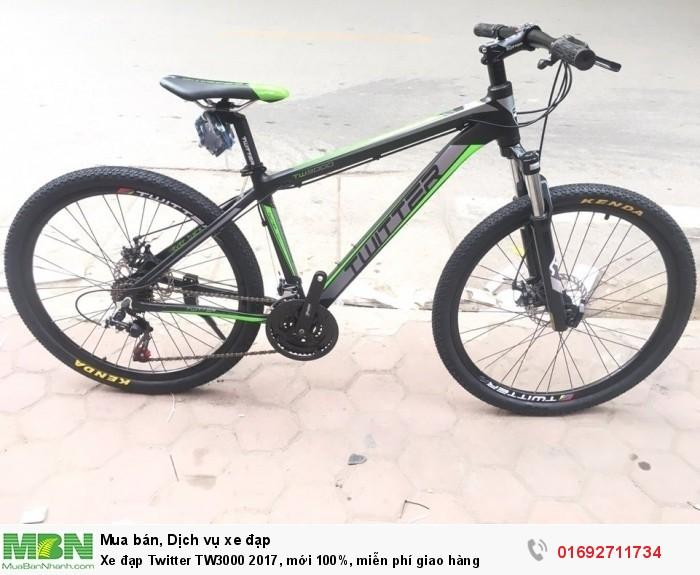 Xe đạp Twitter TW3000 2017, mới 100%, miễn phí giao hàng, màu Đen xanh lá