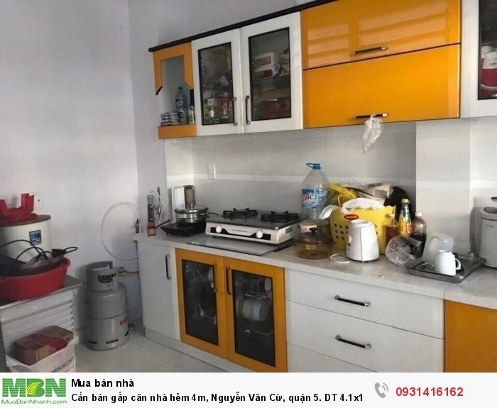 Cần bán gấp căn nhà hẻm 4m, Nguyễn Văn Cừ, quận 5. DT 4.1x12m nhà mới, giá 8.5 tỷ