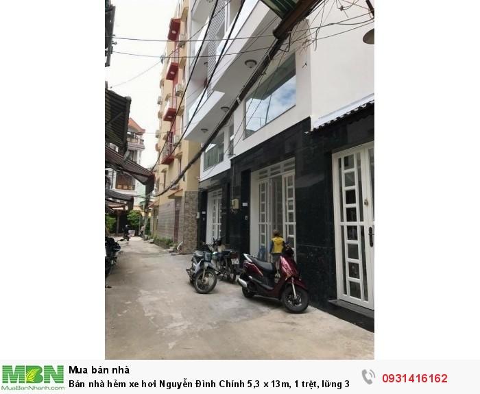 Bán nhà hẻm xe hơi Nguyễn Đình Chính 5,3 x 13m, 1 trệt, lững 3 lầu, Q. Phú Nhuận