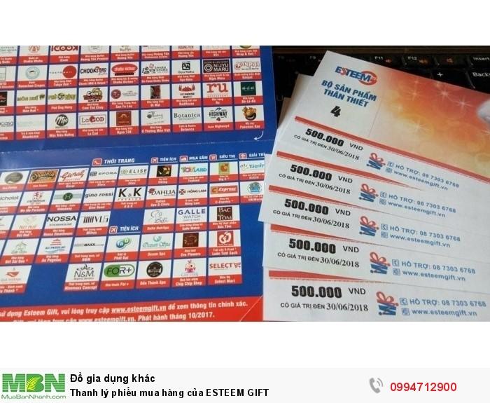 Thanh lý phiếu mua siêu thị BIG C