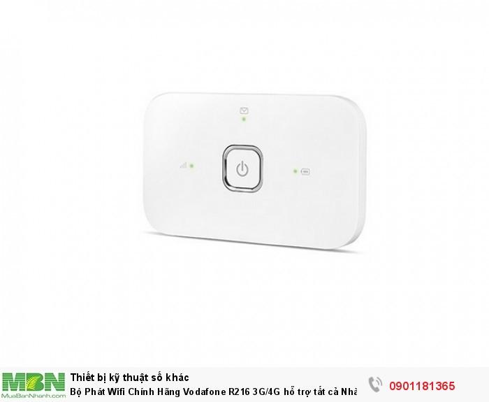 Vodafone Mobile Wifi R216 là thiết bị phát sóng wifi di động từ sim 3G/4G LTE sử dụng chip HiSilicon Balong 711 mạnh mẽ.