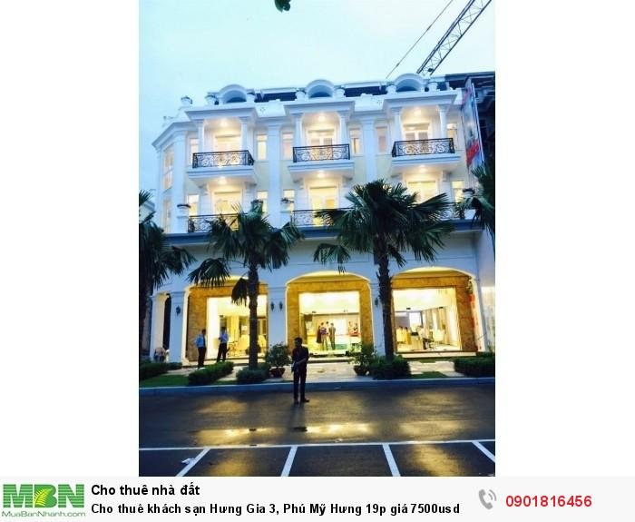 Cho thuê khách sạn Hưng Gia 3, Phú Mỹ Hưng 19p giá 7500usd