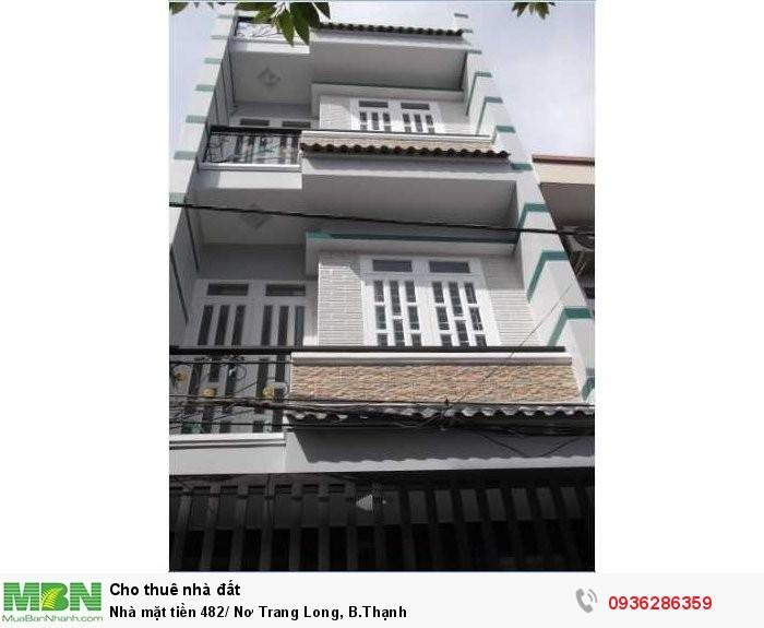 Nhà mặt tiền 482/ Nơ Trang Long, B.Thạnh