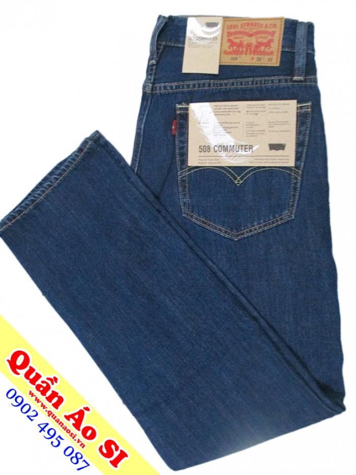 quần jean cổ điển Levis 508 ống xuông