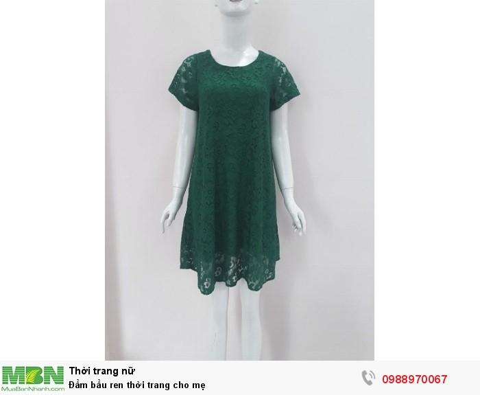 Đầm bầu ren thời trang cho mẹ