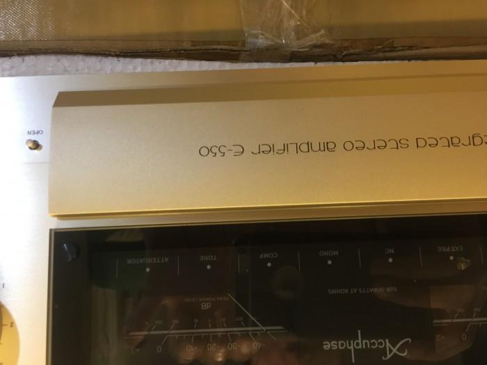 Ampli accuphase E 550 hàng bãi tuyển chọn về, đẹp long lanh
