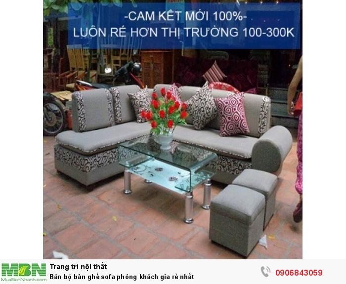 Bán bộ bàn ghế sofa phòng khách gia rẻ nhất1