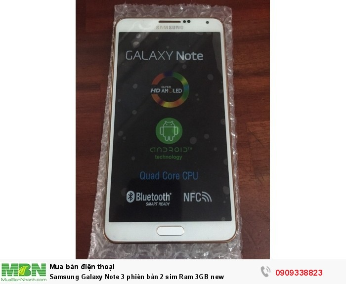 Samsung Galaxy Note 3 phiên bản 2 sim Ram 3GB new
