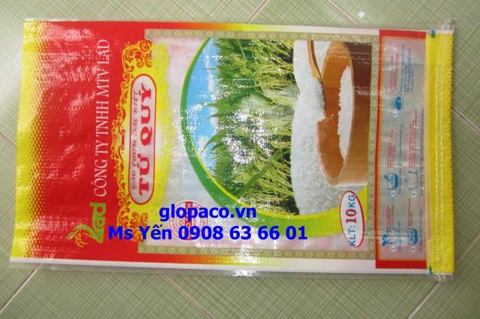 Bao PP dệt 10kg gạo cao cấp (bao bì siêu thị)
