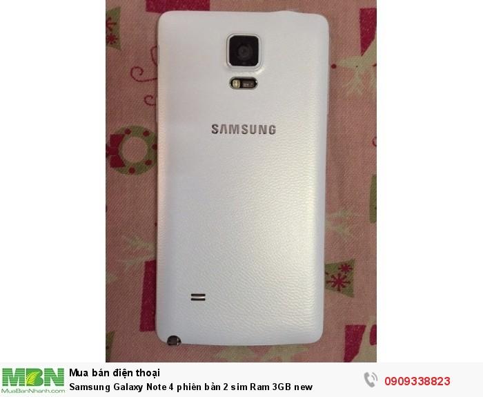 Samsung Galaxy Note 4 phiên bản 2 sim Ram 3GB new