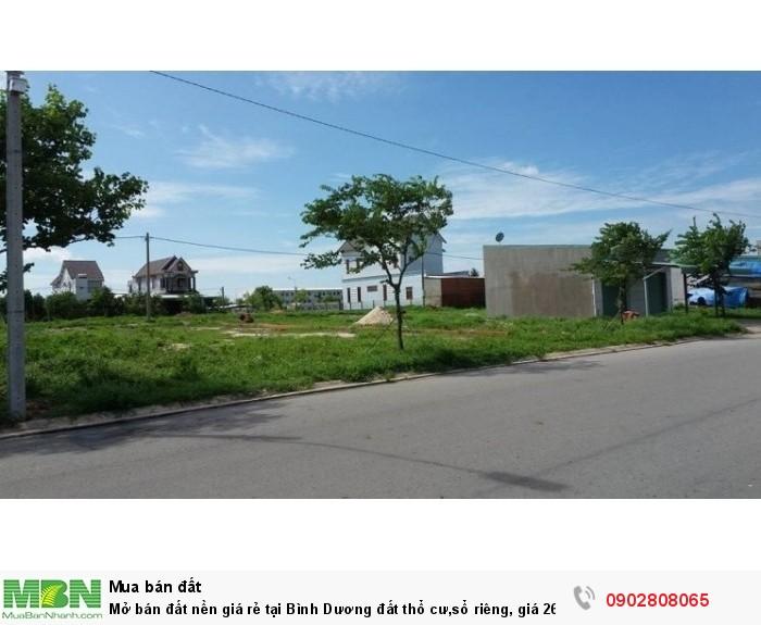 Mở bán đất nền giá rẻ tại Bình Dương đất thổ cư,sổ riêng, giá 260 triệu/nền liền kề Sài gòn