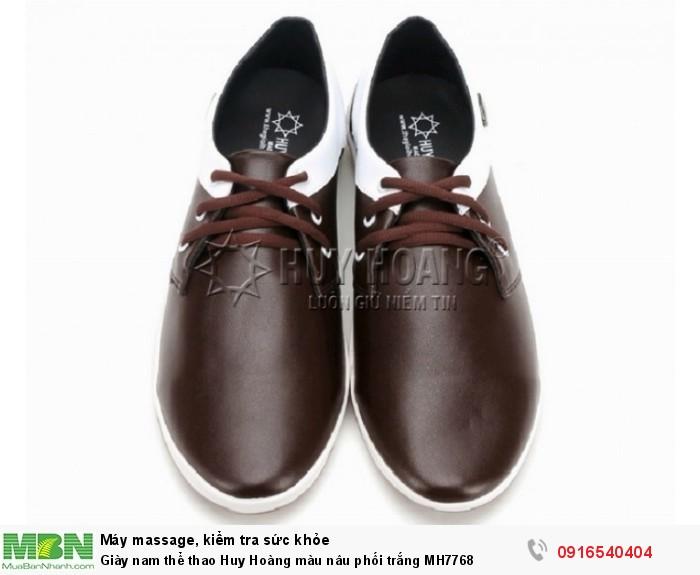 - Giày thể thao Huy Hoàng được xử lý đặc biệt để tạo độ bóng mờ mạnh mẽ và nam tính thích hợp cho mọi lứa tuổi.
