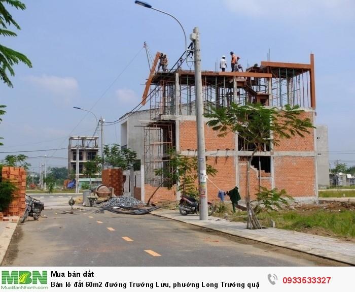 Bán lô đất 60m2 đường Trường Lưu, phường Long Trường quận 9 giá rẻ