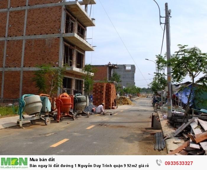Bán ngay lô đất đường 1 Nguyễn Duy Trinh quận 9 92m2 giá rẻ