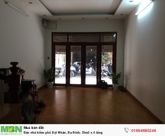 Bán nhà hiếm phố Đội Nhân, Ba Đình: 35m2 x 4 tầng