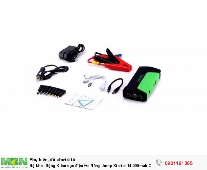 Bộ khởi động Kiêm sạc điện Đa Năng Jump Starter 14.000mah Cho Ô Tô - MSN181309 1