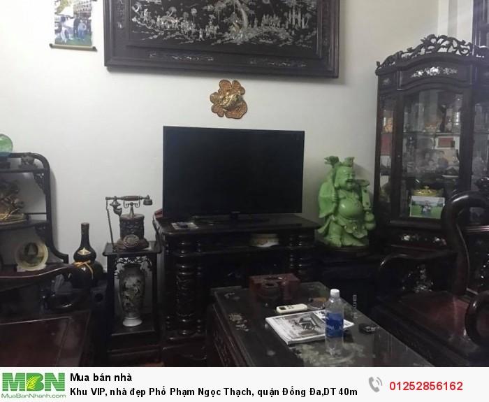 Khu VIP, nhà đẹp Phố Phạm Ngọc Thạch, quận Đống Đa,DT 40m2. Về ở luôn