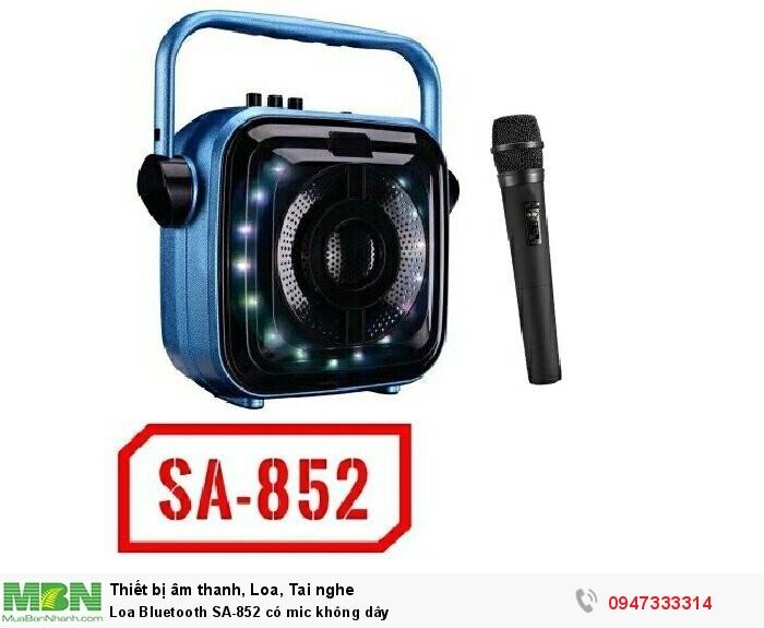Loa Bluetooth SA-852 có mic không dây