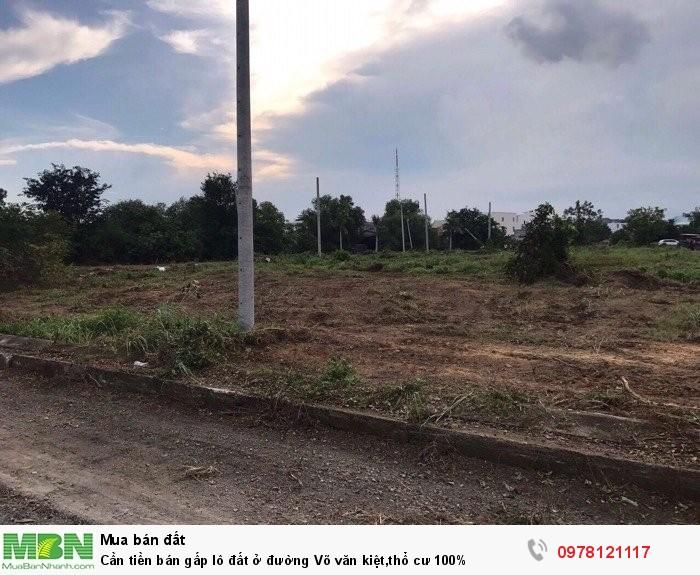 Cần tiền bán gấp lô đất ở đường Võ văn kiệt,thổ cư 100%