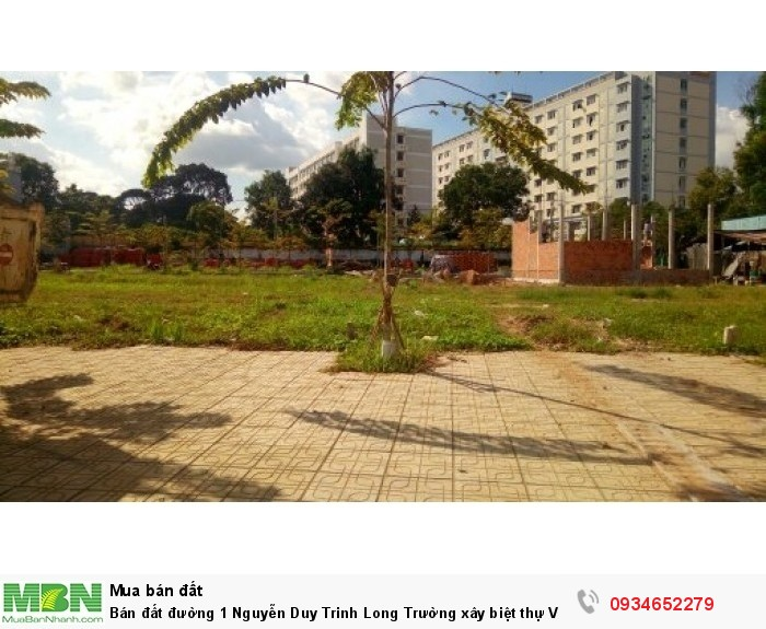 Bán đất đường 1 Nguyễn Duy Trinh Long Trường xây biệt thự Vườn 52m2