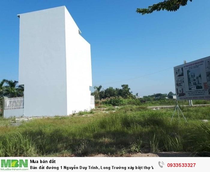 Bán đất đường 1 Nguyễn Duy Trinh, Long Trường xây biệt thự Vườn 52m2