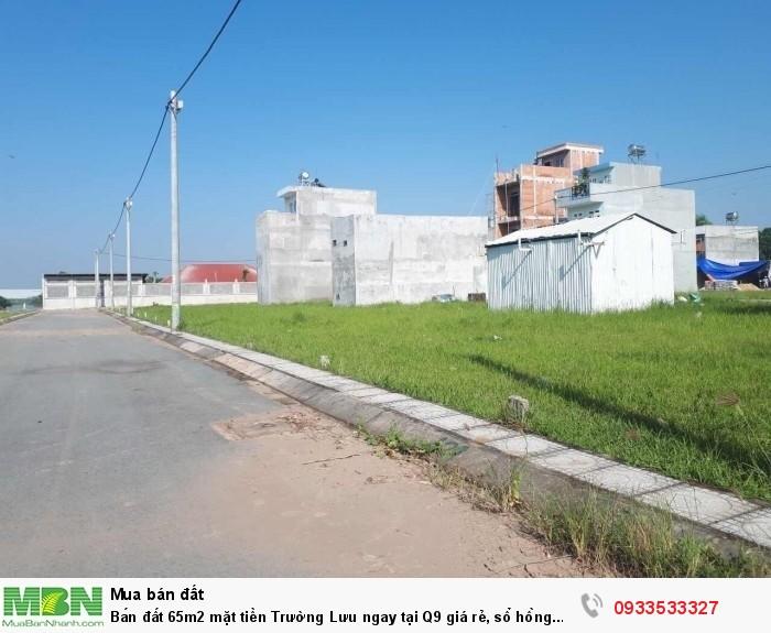 Bán đất 65m2 mặt tiền Trường Lưu ngay tại Q9 giá rẻ, sổ hồng riêng