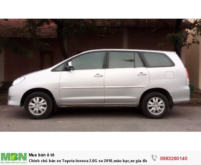 Chính chủ bán xe Toyota Innova 2.0G  sx 2010,màu bạc,xe gia đình