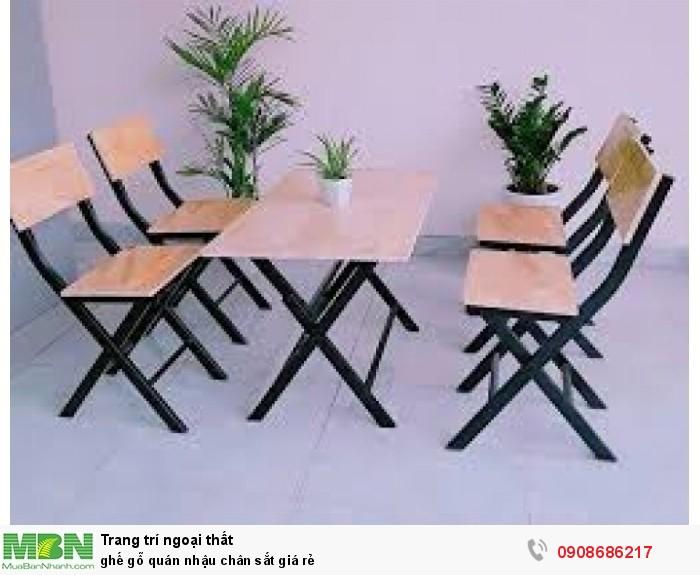 ghế gỗ quán nhậu chân sắt giá rẻ3