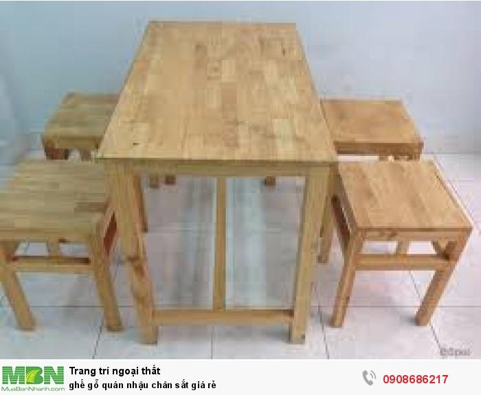 ghế gỗ quán nhậu chân sắt giá rẻ4