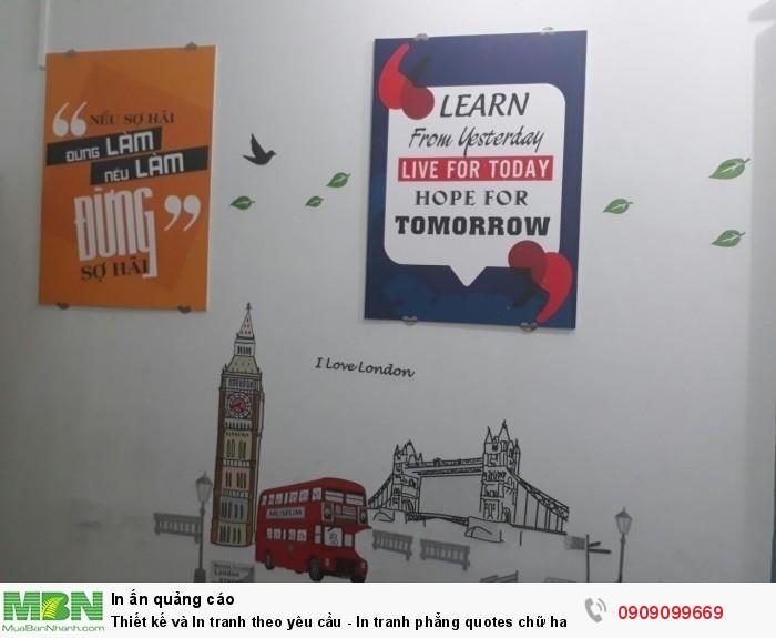In tranh phẳng quotes chữ hay cho văn phòng làm việc