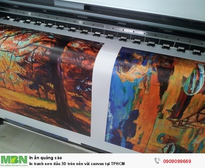 Chất liệu Tranh Canvas. - In trên nền vải Canvas cho hiệu ứng như tranh vẽ