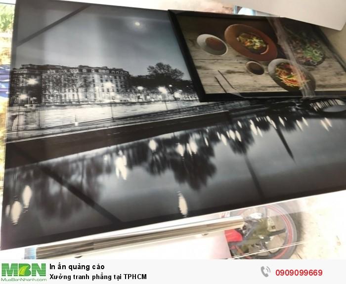 Thành phẩm in tranh phẳng chất liệu canvas được đóng khung sexy (khung dấu) tại I...