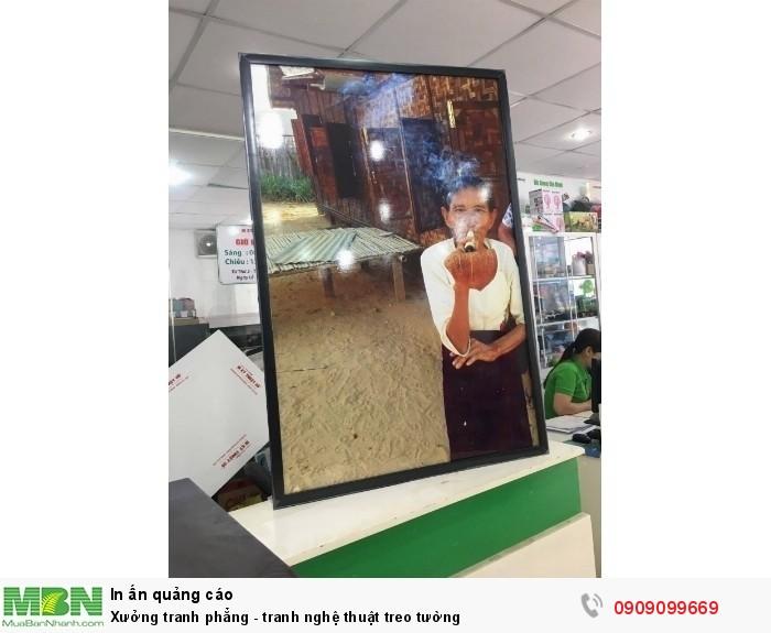 Bức tranh nghệ thuật được in ấn và đóng khung tranh gọn đẹp từ bức ảnh ngh...