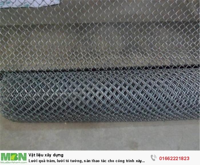 Lưới quả trám, lưới tô tường, sàn thao tác cho công trình xây dựng1
