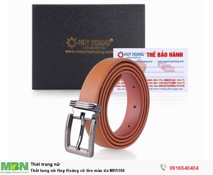 - Thắt lưng nữ Huy Hoàng là loại thắt lưng được làm và xử lý công nghệ hiện đại từ da trăn thật 100%.0