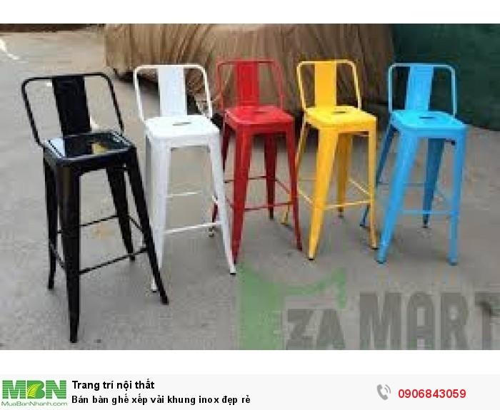 Bán bàn ghế xếp vải khung inox đẹp rẻ7