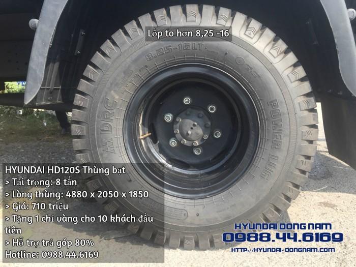 Xe tải Hyundai HD120S nâng tải 8 tấn Đô Thành