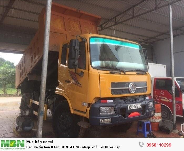 Bán xe tải ben 8 tấn DONGFENG nhập khẩu 2010 xe đẹp 0