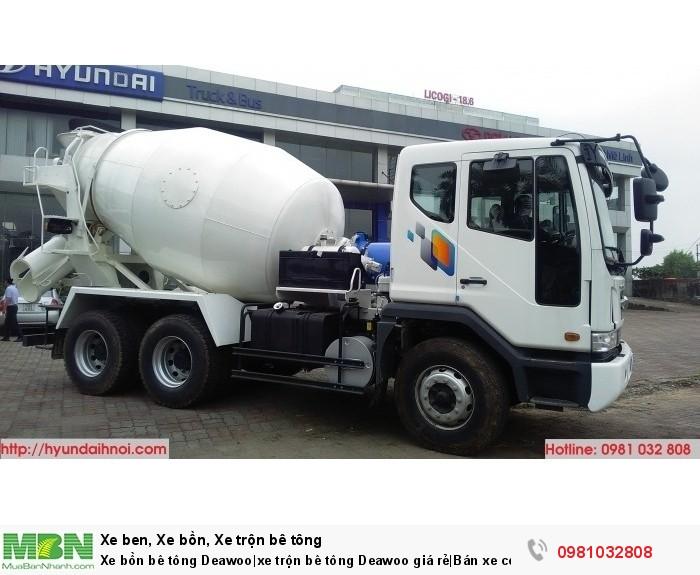Xe bồn bê tông Deawoo|xe trộn bê tông Deawoo giá rẻ|Bán xe công trình tại Hà Nội Hotline: 0981 032 808