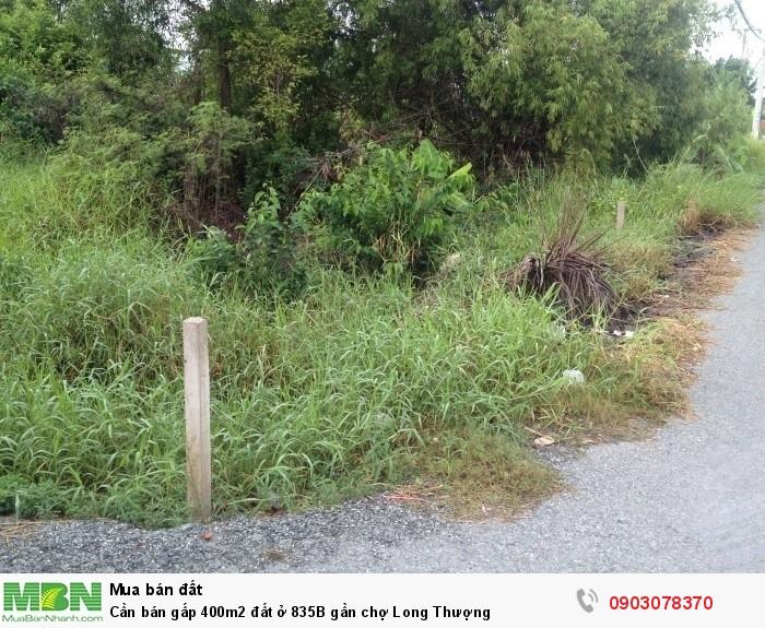 Cần bán gấp 400m2 đất ở 835B gần chợ Long Thượng