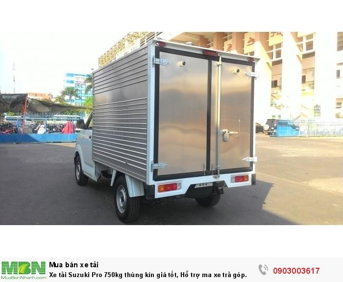 Xe tải Suzuki Pro 750kg thùng kín giá tốt, Hỗ trợ ma xe trả góp.