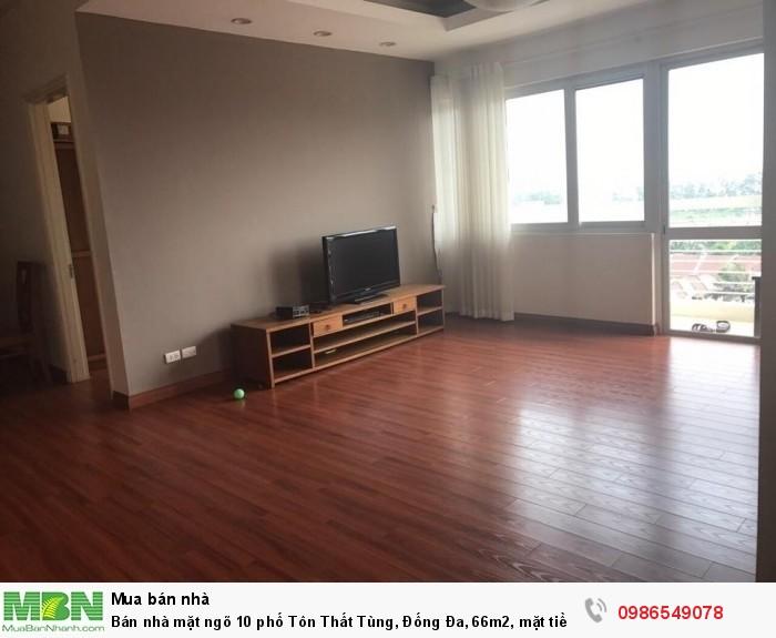 Bán nhà mặt ngõ 10 phố Tôn Thất Tùng, Đống Đa, 66m2, mặt tiền 4.2m, vỉa hè 3m, 14.2 tỷ.