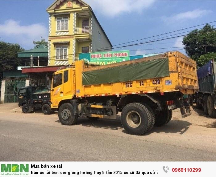Bán xe tải ben dongfeng hoàng huy 8 tấn 2015 xe cũ đã qua sử dụng giá tốt 0