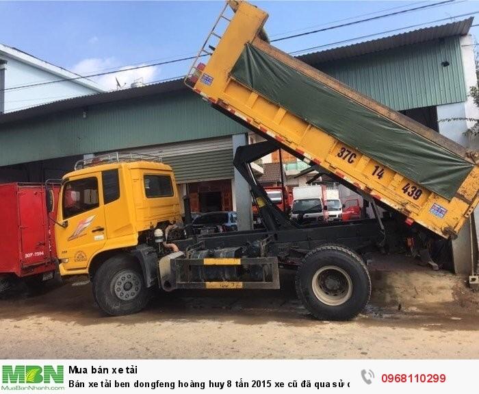 Bán xe tải ben dongfeng hoàng huy 8 tấn 2015 xe cũ đã qua sử dụng giá tốt 1