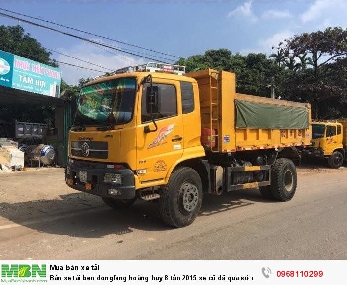 Bán xe tải ben dongfeng hoàng huy 8 tấn 2015 xe cũ đã qua sử dụng giá tốt 2
