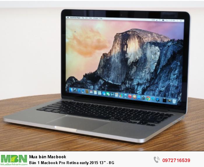 Bán 1 Macbook Pro Retina early 2015 13'' - 8G0