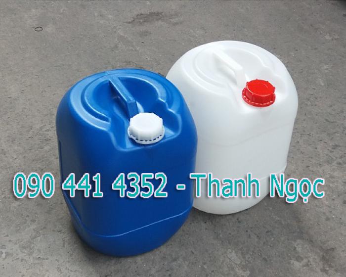 Can hóa chất mới, can đựng dầu, can đựng thực phẩm,can nhựa tròn, vuông,bình nhựa 30 lít, tphcm