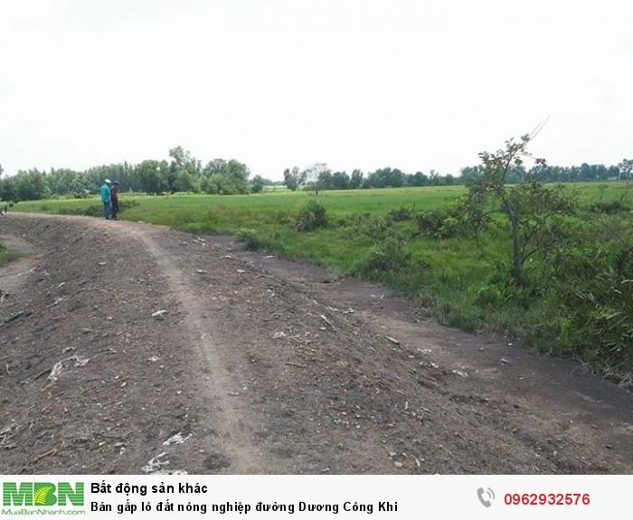 Bán gấp lô đất nông nghiệp đường Dương Công Khi